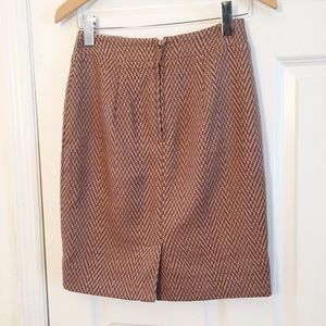 Anthropologie Skirts - Maeve Herringbone Tan Brown Pencil Skirt Sz 2